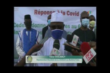 Embedded thumbnail for Cérémonie de remise de vrivres par la Cedeao au Burkina Faso (rtb)